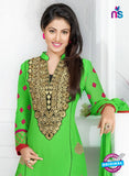 NS12257 Green and Pink Straight Suit Online