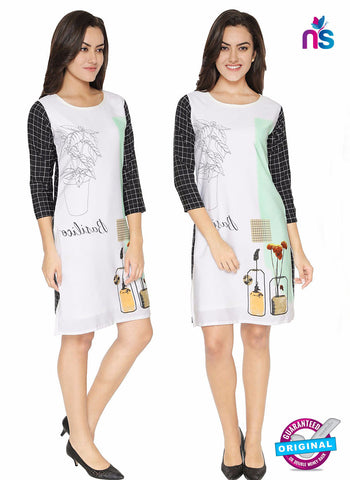 Maya 1 White Crepe Formal Kurti