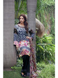 NS11261 Black and Multicolor Daily Wear Printed Satin Pakistani Suit