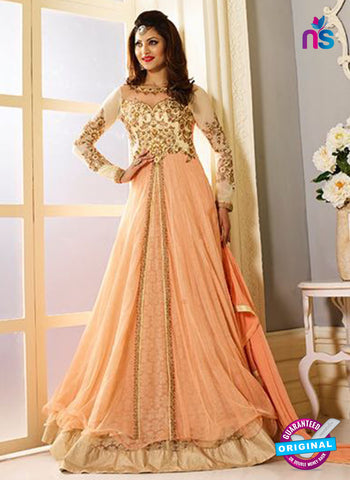 AZ 5204 Peach Georgette Designer Anarkali Suit