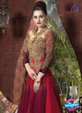 AZ 1053 Pink and Brown Net Georgette Party Wear Suit - Salwar Suits - NEW SHOP