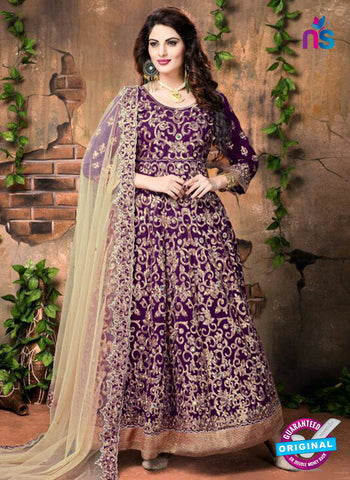 Annaya 20002 Purple Anarkali Suit