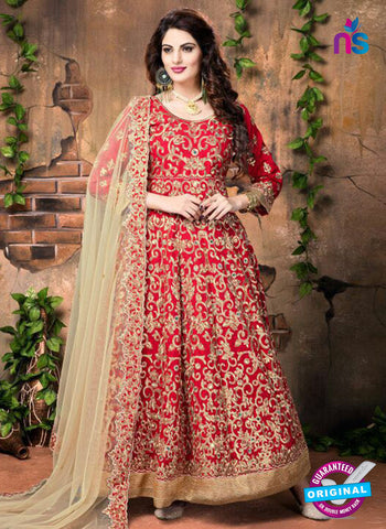 Annaya 20004 Red Anarkali Suit