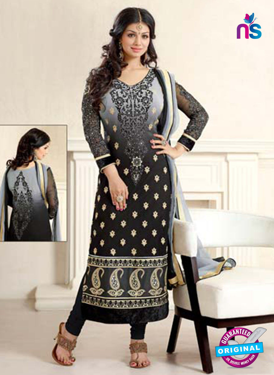 Black Color Georgette Long Designer Suit