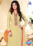 SC 13149 Beige and Red Party Wear Georgette Straight Suit