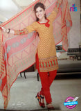 NS10094 Yellow and Red Cotton Suit