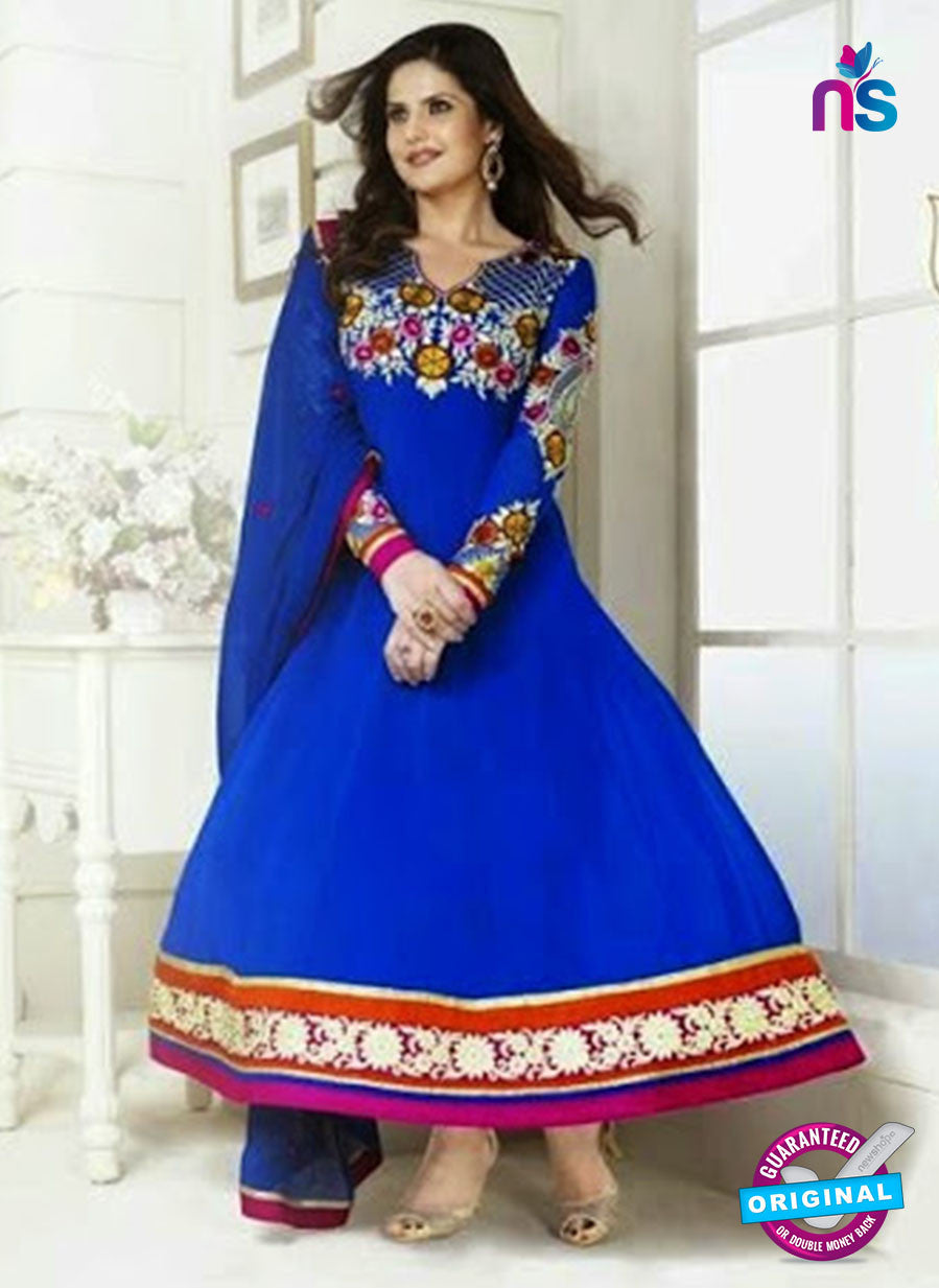 NS10522 Blue and Multicolor Party Wear Georgette Anarkali Suit