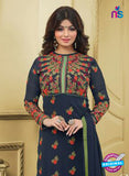 SC 13032 Blue and Multicolor Embroidered Heavy Georgette Party Wear Long Straight Suit