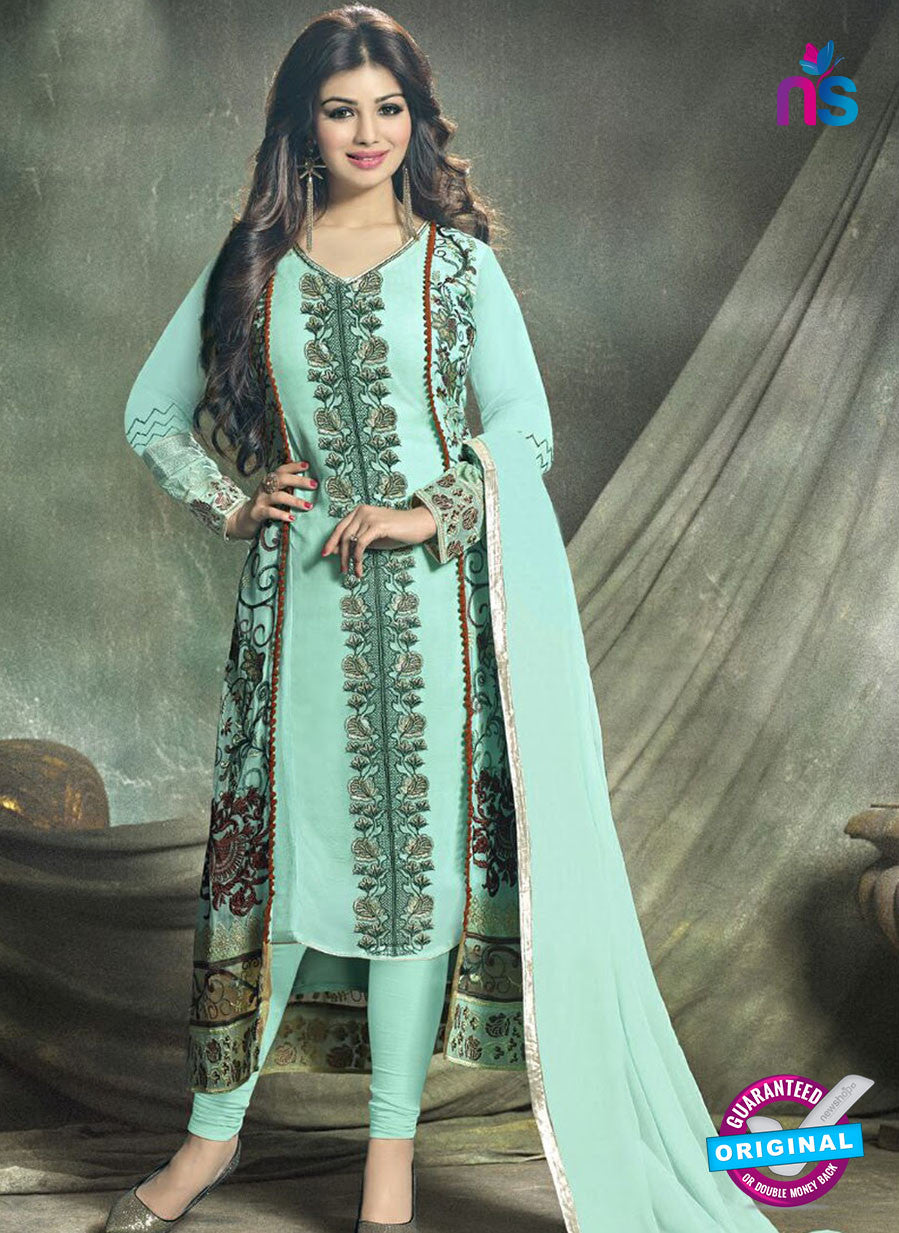 SC 12777 Blue and Multicolor Party Wear Foux Georgette Designer Suit