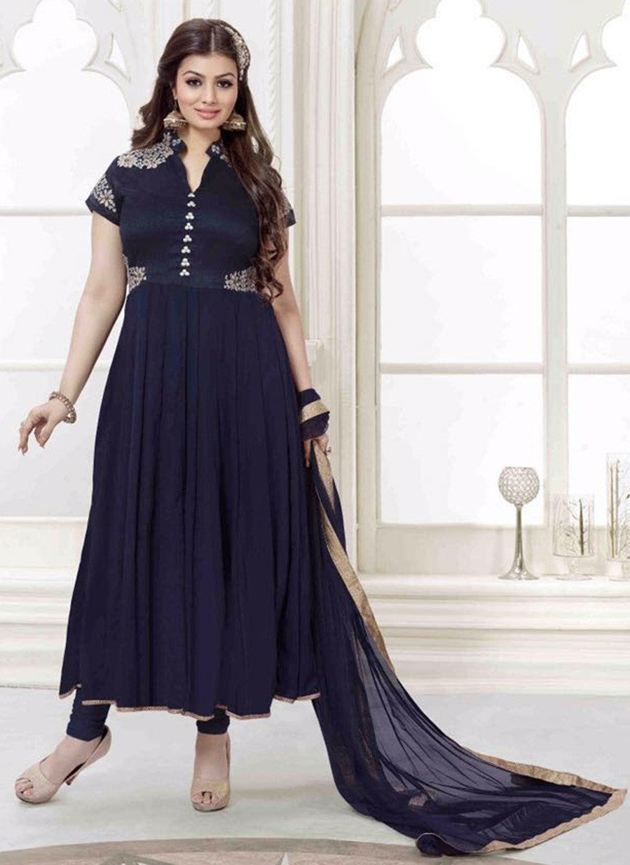 NS11484  Blue Color Georgette Designer Suit