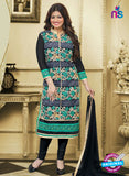 SC 13029 Black and Multicolor Embroidered Heavy Georgette Party Wear Long Straight Suit