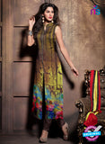 Maskeen 2004 Brown Georgette Party Wear Suit