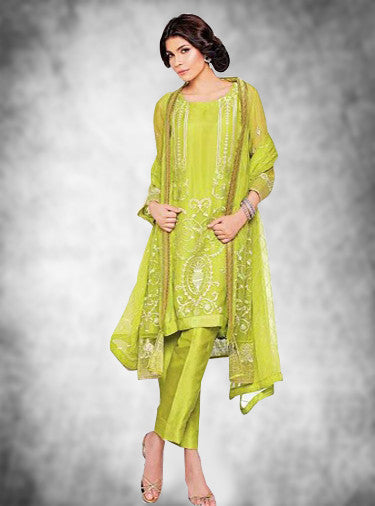 NS11650  Green Color Georgette Designer Suit
