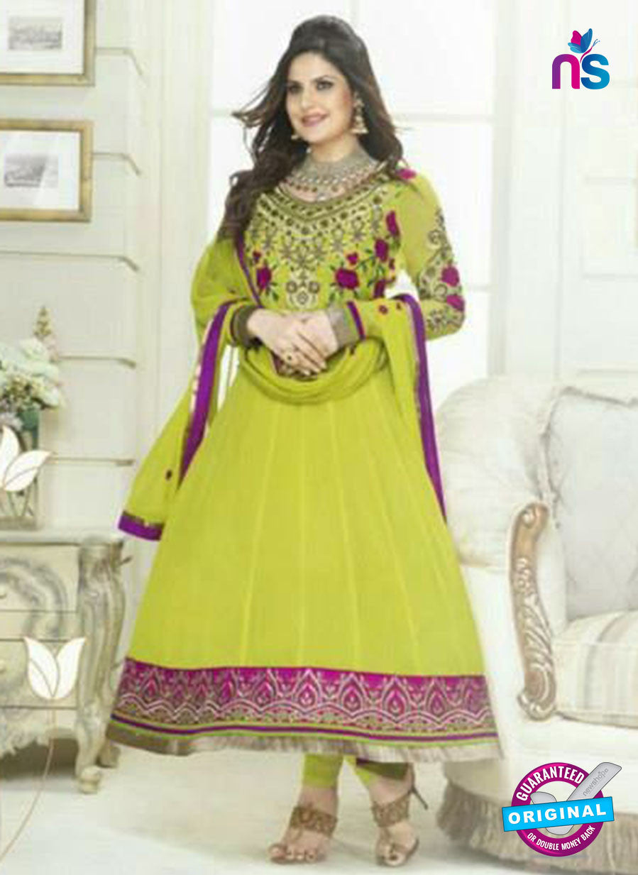 NS10523 Green and Magenta Party Wear Georgette Anarkali Suit