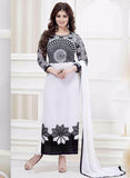 NS11487  Black & white Color Georgette Designer Suit