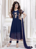 NS11488  Blue Color Georgette Designer Suit