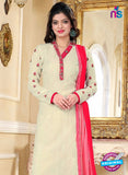 SC 13146 Beige Party Wear Georgette Straight Suit