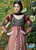 NS12033 Brown and Pink Designer Anarkali Suit