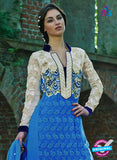 NS12035 Blue and White Designer Suit Online