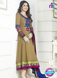 NS10524 Brown and Multicolor Party Wear Georgette Anarkali Suit