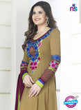 NS10524 Brown Party Wear Georgette Anarkali Suit