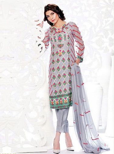 NS11654  Grey Color Georgette Designer Suit