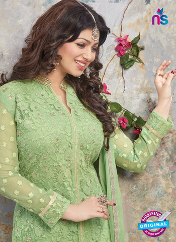 AZ 5210 Green Georgette Designer Straight Suit