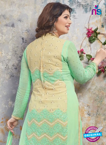 AZ 5212 Green Georgette Designer Straight Suit