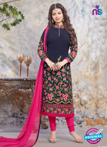 AZ 5213 Blue and Pink Georgette Designer Straight Suit