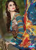 SC 13601 Sky Blue and Multicolor Designer Fancy Exclusive Un-stitched Straight Suit