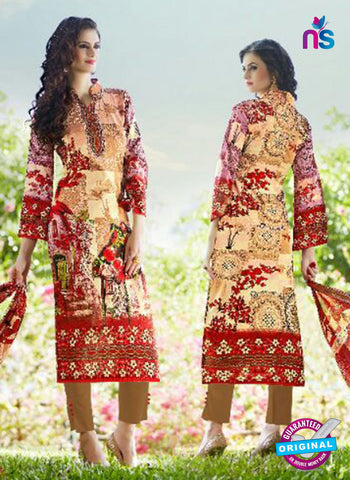 SC 13595 Multicolor and Red Designer Fancy Exclusive Un-stitched Straight Suit