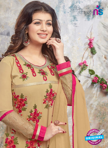 AZ 5215 Golden Georgette Designer Straight Suit