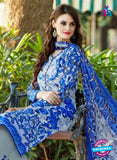 SC 13602 Blue and Grey Designer Fancy Exclusive Un-stitched Straight Suit