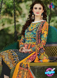 SC 13593 Black and Multicolor Designer Fancy Exclusive Un-stitched Straight Suit