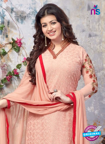 AZ 5217 Peach Georgette Designer Straight Suit