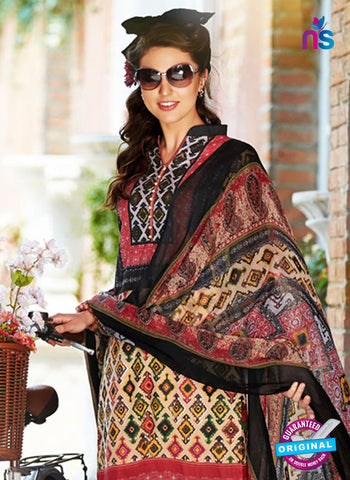 SC 12652 Multicolor Printed Cambric Pakistani Suit