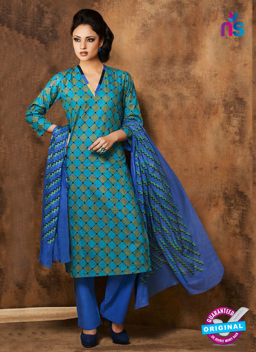 Rivaa 201A Blue Color Cotton Designer Suit