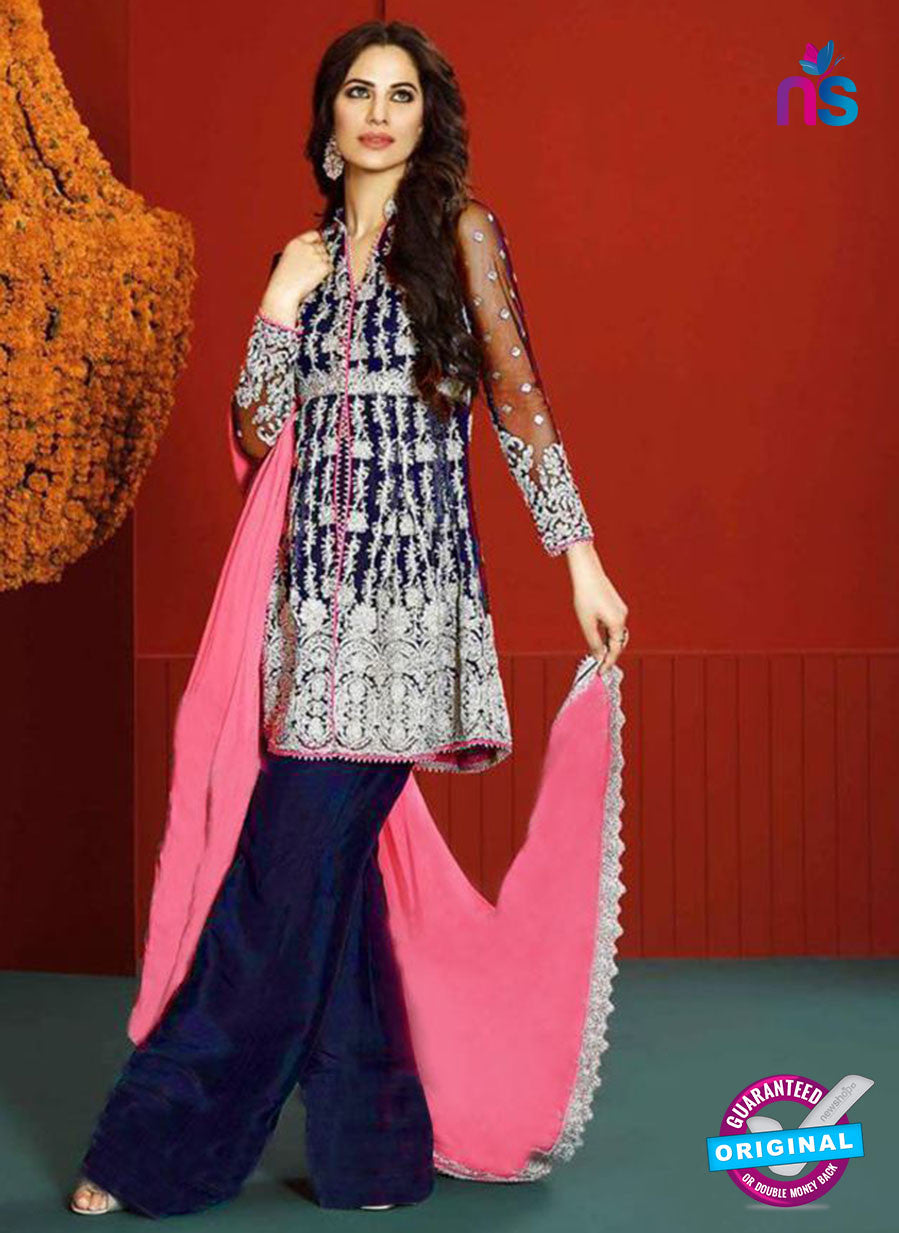Asim Jofa 2021 Blue Semi Georgette Party Wear Suit Online