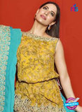 Asim Jofa 2022 Yellow Semi Georgette Party Wear Suit Online
