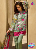 SC 12833 Green and Pink Camric Cotton Printed Pakistani Suit