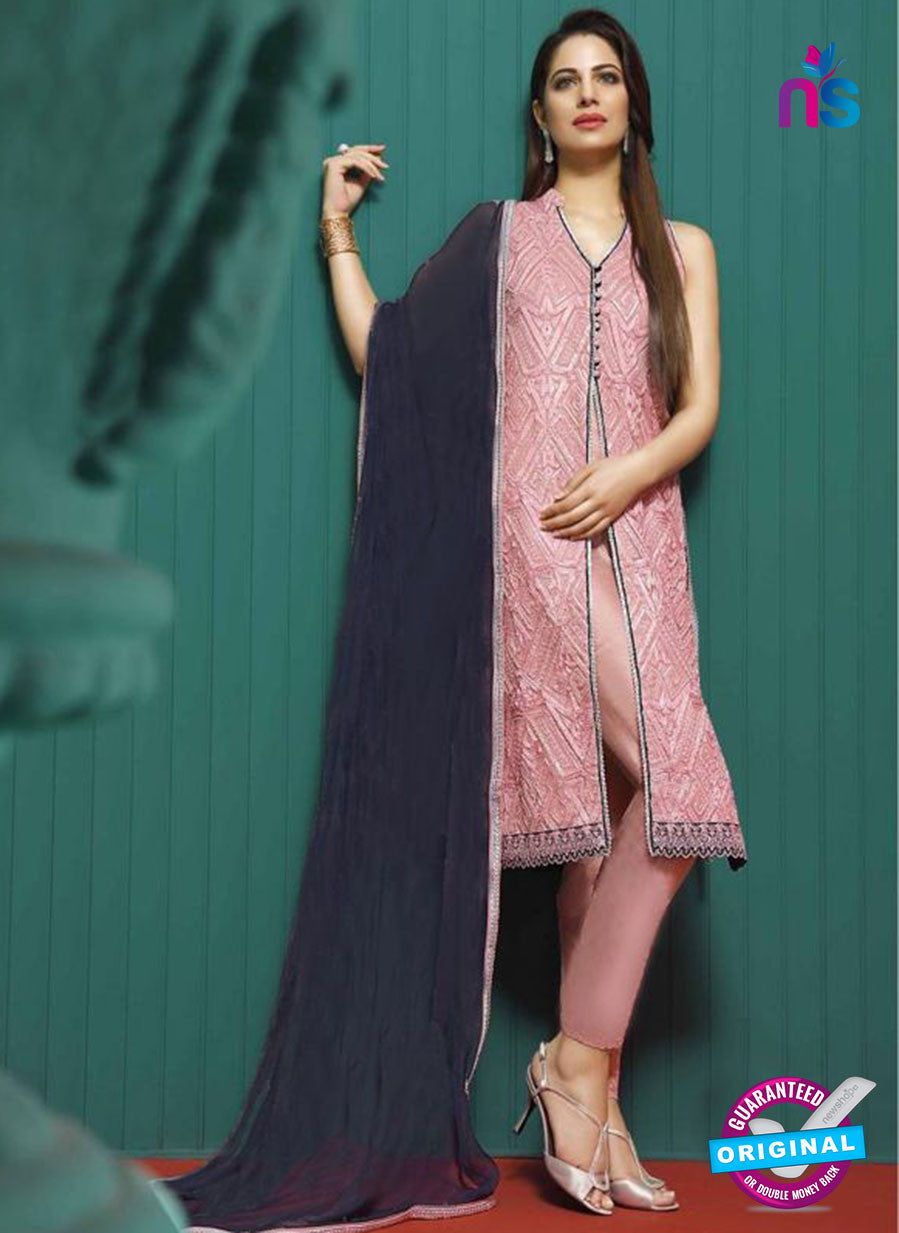Asim Jofa 2024 Pink Semi Georgette Party Wear Suit