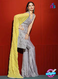 Asim Jofa 2027 Grey Semi Georgette Party Wear Suit