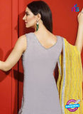 Asim Jofa 2027 Grey Semi Georgette Party Wear Suit Online