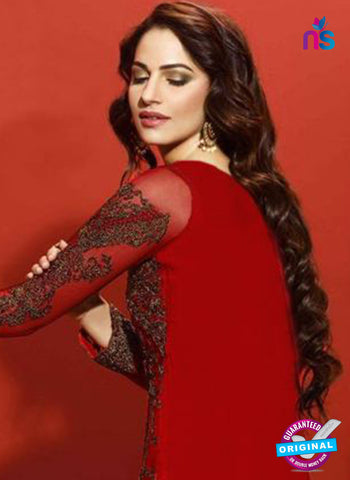 Asim Jofa 2028 Maroon Semi Georgette Party Wear Suit Online