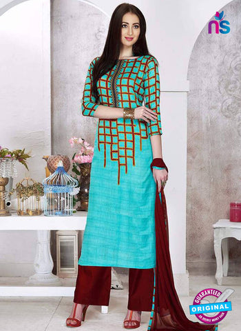 Sadaa 202 Sky Blue Formal Suit