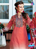 SC 12646 Red and White Printed Cambric Pakistani Suit