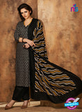 Rivaa 202B Black Color Cotton Designer Suit