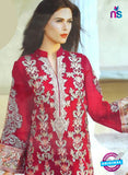 NS10181 Red Party Wear faux Georgette Pakistani Suit