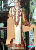 NS10184 White and Beige Party Wear faux Georgette Pakistani Suit