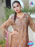 NS10185 Brown and Multicolor Party Wear faux Georgette Pakistani Suit